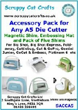 Accessory Pack for Todo /& Any A4 Die Cutter Mats /& Shims SACCA4